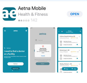 the app can also be used to review claims find a doctor and find discounts as well as many of the functions found on the web application - Prescription Discount Card Reviews