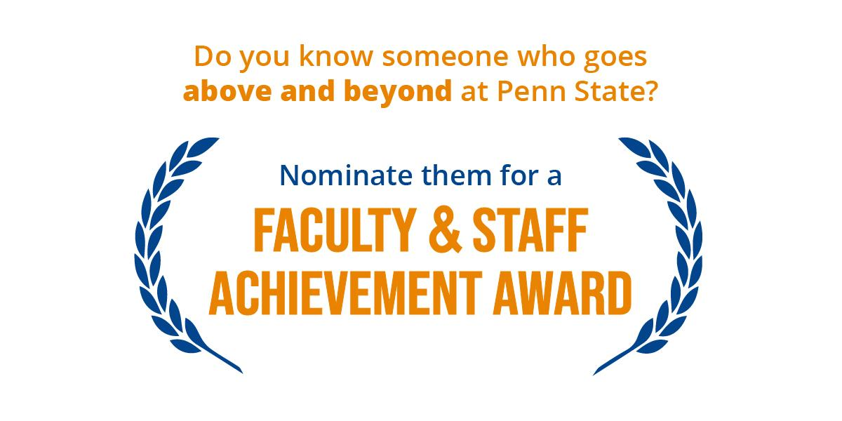 Faculty and Staff Achievement Awards Now Open