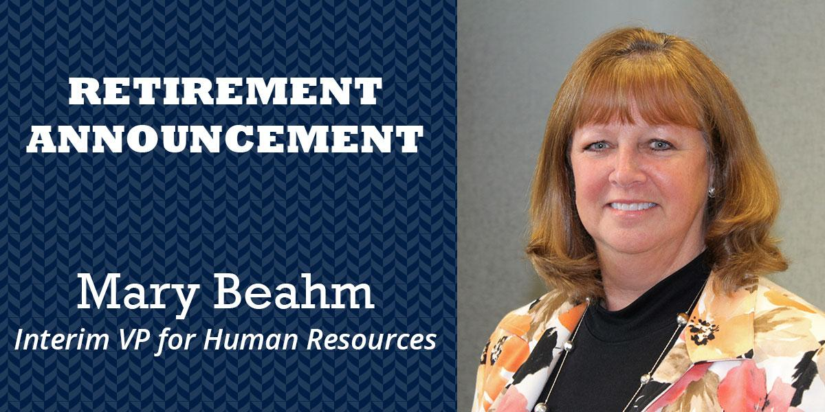 Image of Mary Beahm and a Retirement Annoucement