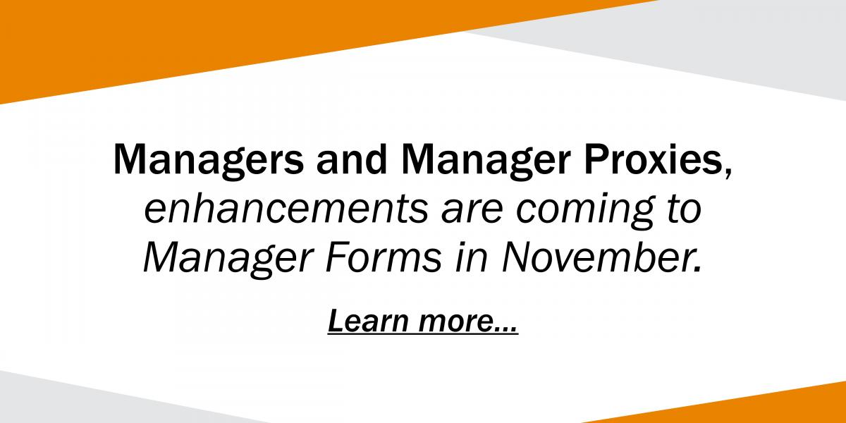 Manager Form Enhancements Coming