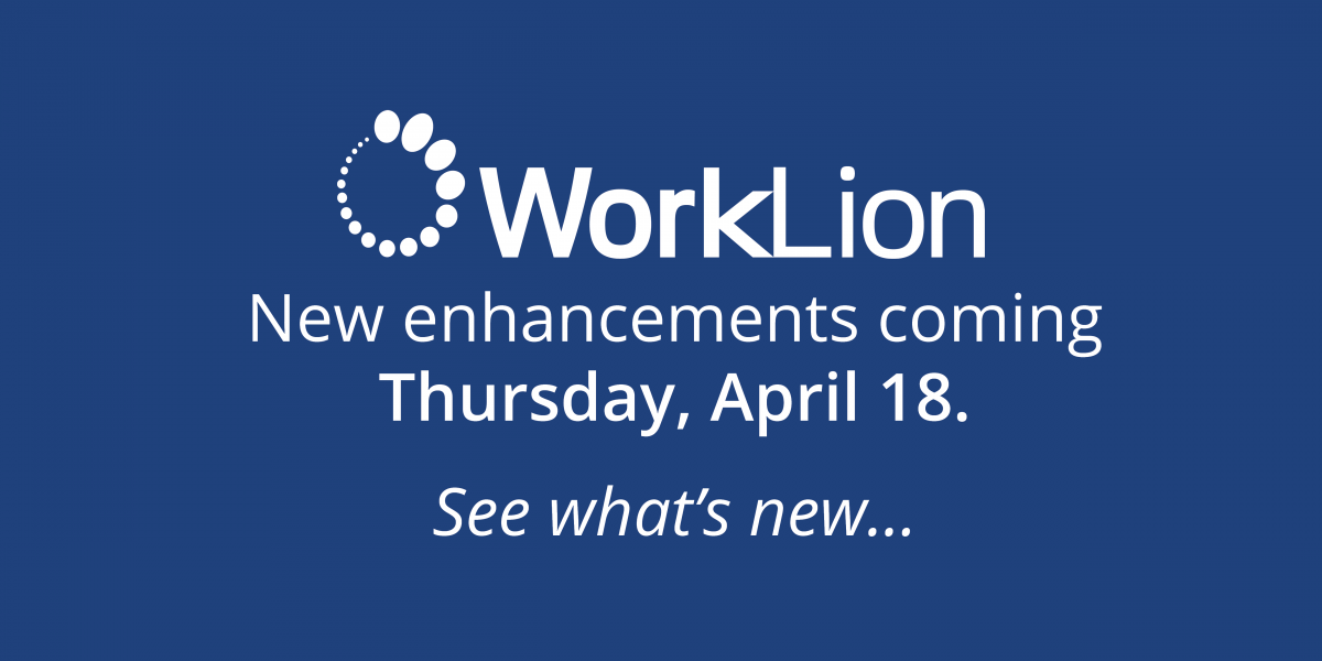 WorkLion enhancements coming April 18