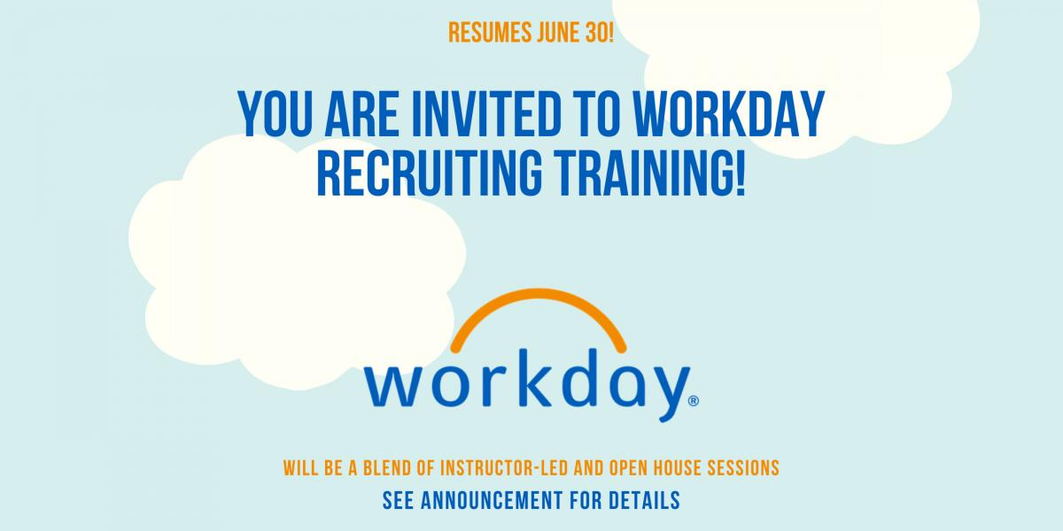 Workday Training Resumes
